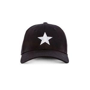 Gents Lone Star Adjustable Cap in Black White